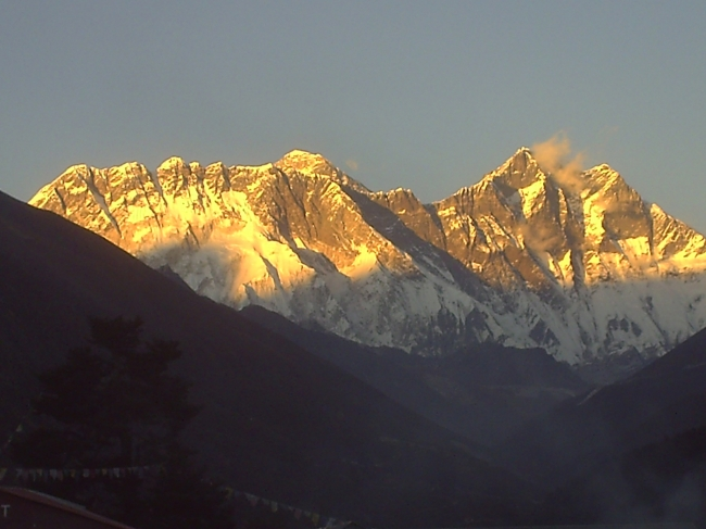 Mt. Everest sunset view  from Tanbochhe